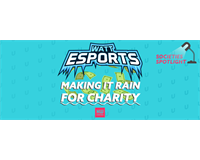 "Watt Esports Logo, text reads ""Making it raining for charity"""
