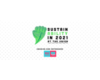 "Sustainability Icon - Text reads ""Sustainability in 20201 at the Union"